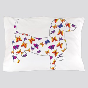 Butterfly Doxie Dachshund Pillow Case